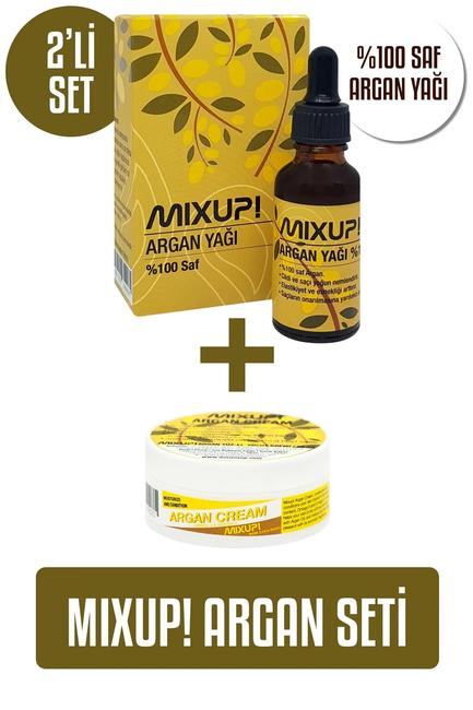 Mixup! %100 Saf Argan Yağı 30 ml + Mixup! Argan Krem 65 ml 2′li set